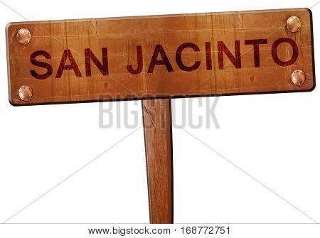 san jacinto road sign, 3D rendering