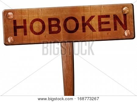 hoboken road sign, 3D rendering