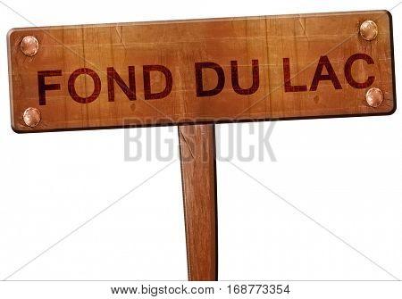 fond du lac road sign, 3D rendering