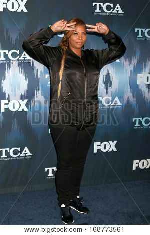 LOS ANGELES - JAN 11:  Queen Latifah  at the FOX TV TCA Winter 2017 All-Star Party at Langham Hotel on January 11, 2017 in Pasadena, CA