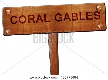 coral gables road sign, 3D rendering