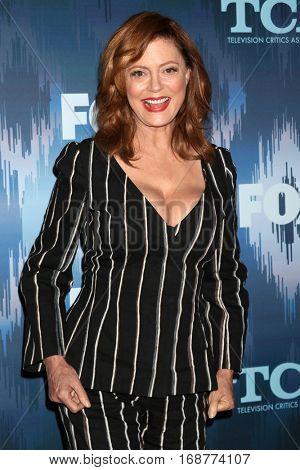 LOS ANGELES - JAN 11:  Susan Sarandon at the FOX TV TCA Winter 2017 All-Star Party at Langham Hotel on January 11, 2017 in Pasadena, CA