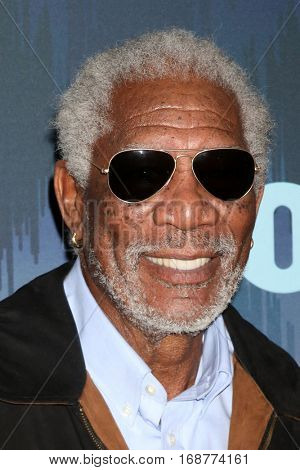LOS ANGELES - JAN 11:  Morgan Freeman at the FOX TV TCA Winter 2017 All-Star Party at Langham Hotel on January 11, 2017 in Pasadena, CA