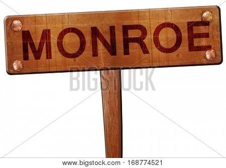 monroe road sign, 3D rendering