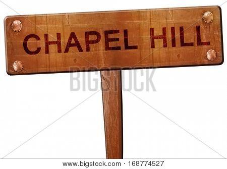 chapel hill road sign, 3D rendering