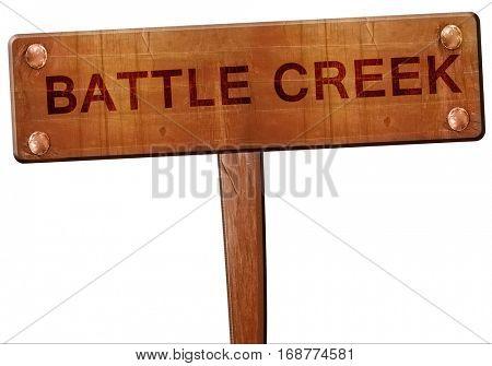 battle creek road sign, 3D rendering