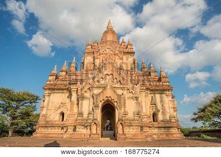South Guni pagoda in the Bagan plains of old Bagan kingdom, Mandalay region, Myanmar.