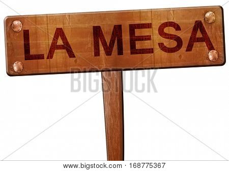 la mesa road sign, 3D rendering