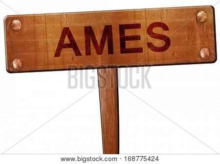 ames road sign, 3D rendering