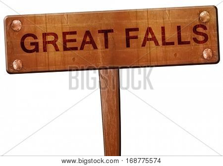 great falls road sign, 3D rendering