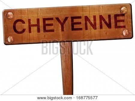 cheyenne road sign, 3D rendering