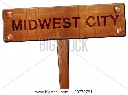 midwest city road sign, 3D rendering
