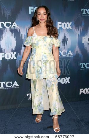 LOS ANGELES - JAN 11:  Cleopatra Coleman at the FOX TV TCA Winter 2017 All-Star Party at Langham Hotel on January 11, 2017 in Pasadena, CA