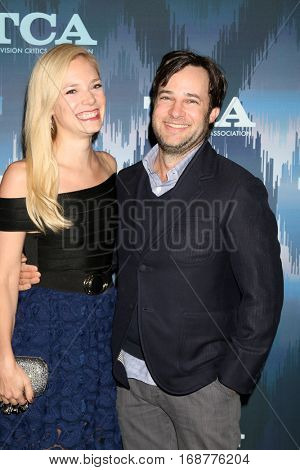 LOS ANGELES - JAN 11:  Fiance, Danny Strong at the FOX TV TCA Winter 2017 All-Star Party at Langham Hotel on January 11, 2017 in Pasadena, CA