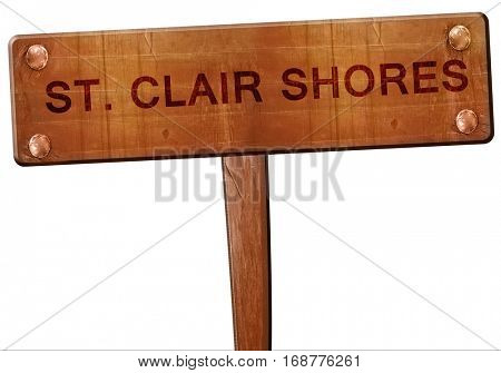 st. clair shores road sign, 3D rendering
