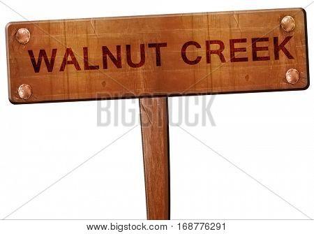 walnut creek road sign, 3D rendering