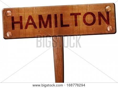 hamilton road sign, 3D rendering