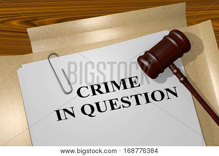 Crime In Question Concept