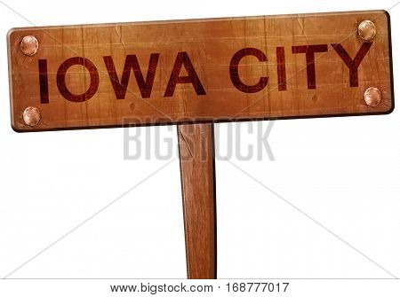 iowa city road sign, 3D rendering