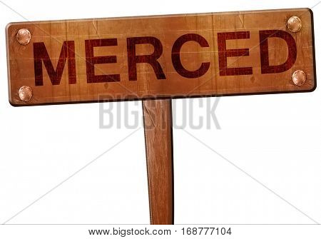 merced road sign, 3D rendering