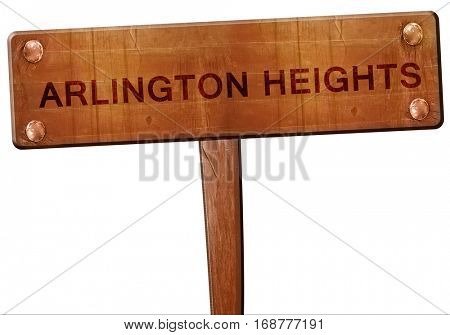 arlington heights road sign, 3D rendering