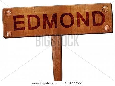 edmond road sign, 3D rendering