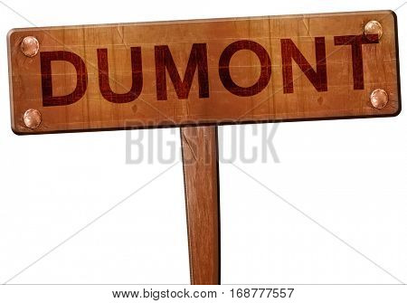 dumont road sign, 3D rendering