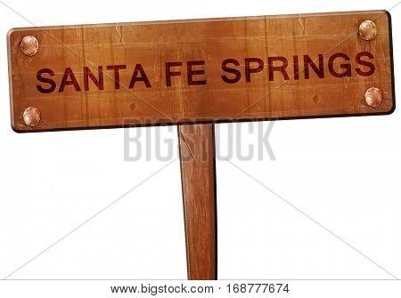 sante fe springs road sign, 3D rendering