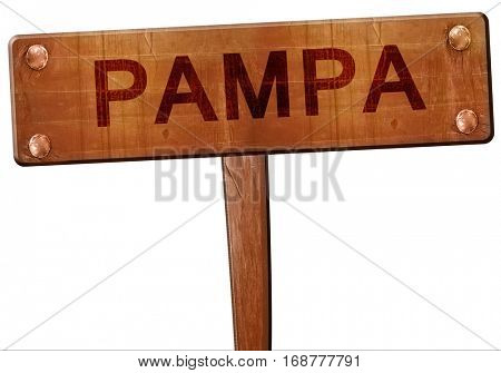 pampa road sign, 3D rendering