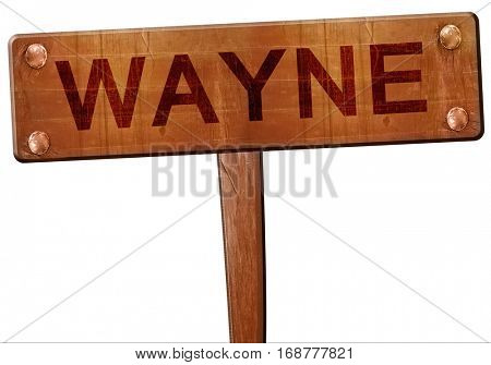 wayne road sign, 3D rendering