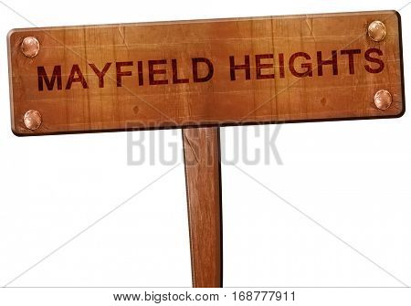 mayfield heights road sign, 3D rendering