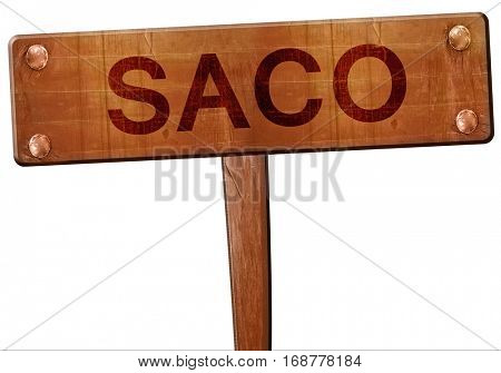 saco road sign, 3D rendering