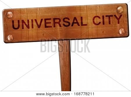 universal city road sign, 3D rendering