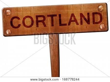 cortland road sign, 3D rendering