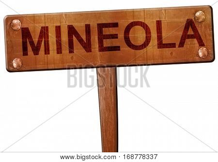 mineola road sign, 3D rendering