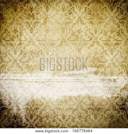 Old paper background with decorative vintage patterns for the design. Vintage paper texture.