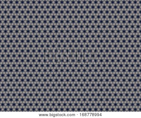 6 Sided Stars And Rhombus Blue Beige Gray Pattern