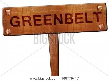 greenbelt road sign, 3D rendering