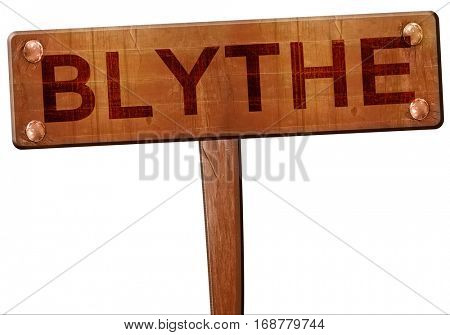 blythe road sign, 3D rendering
