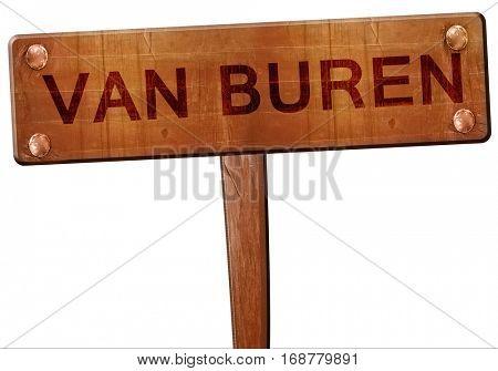van buren road sign, 3D rendering