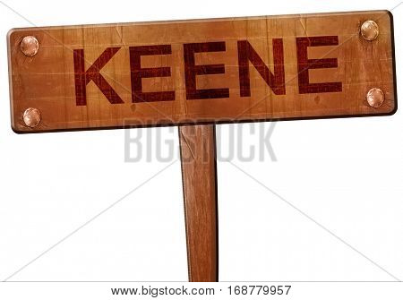 keene road sign, 3D rendering