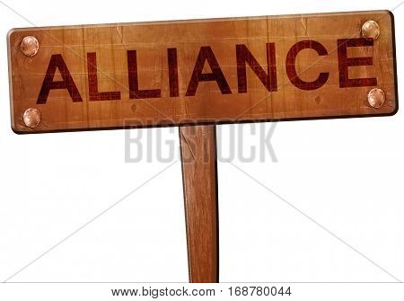 alliance road sign, 3D rendering
