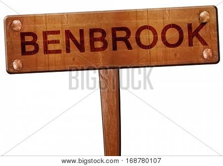 benbrook road sign, 3D rendering