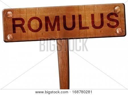 romulus road sign, 3D rendering