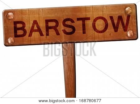 barstow road sign, 3D rendering