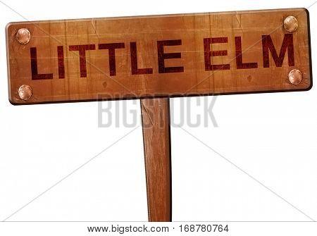 little elm road sign, 3D rendering