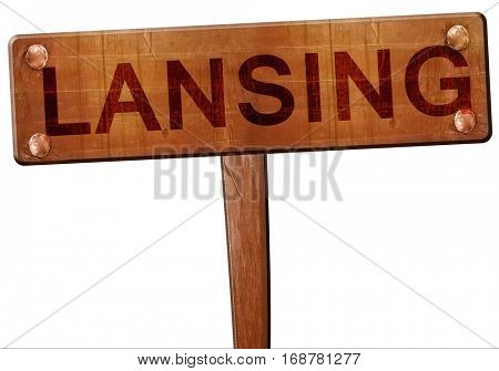 lansing road sign, 3D rendering
