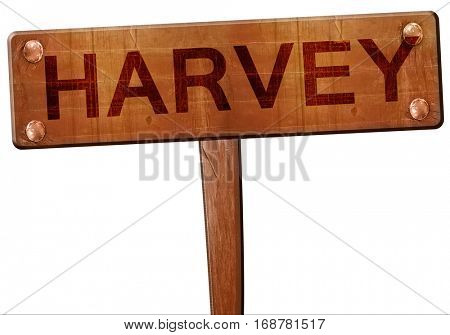 harvey road sign, 3D rendering