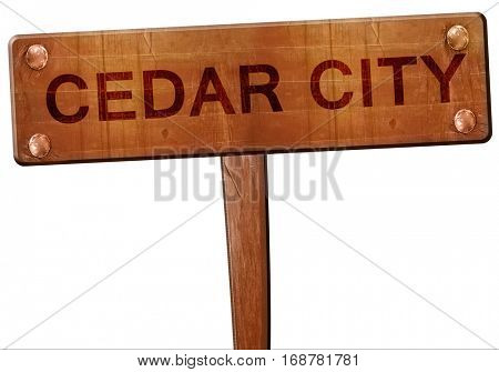 cedar city road sign, 3D rendering