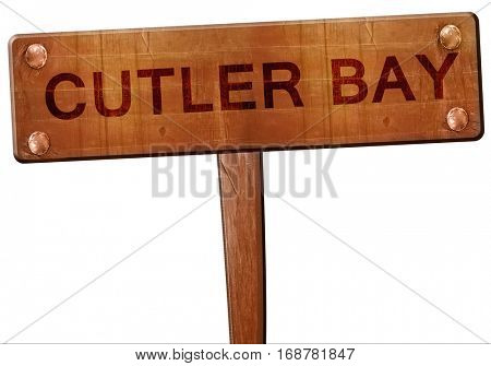 cutler bay road sign, 3D rendering